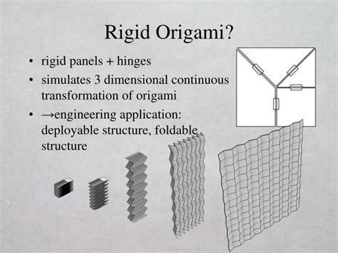 rigid origami ppt rigid origami simulation powerpoint presentation