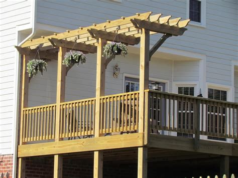 pergolas for decks deck with pergola midlothian rva remodeling llc
