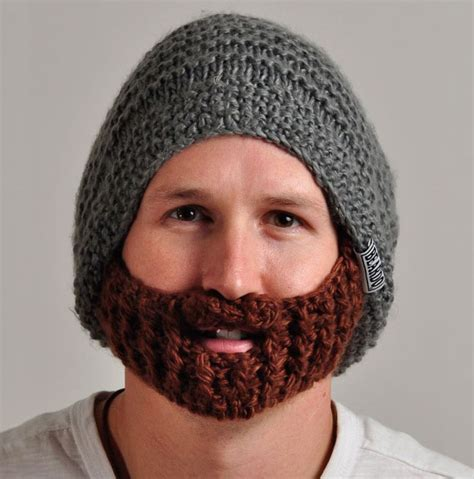 knit hat with beard 25 cool winter hats that will keep you warm bored panda