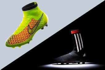 nike knitted football boots battle of the brands nike and adidas launch knitted boots