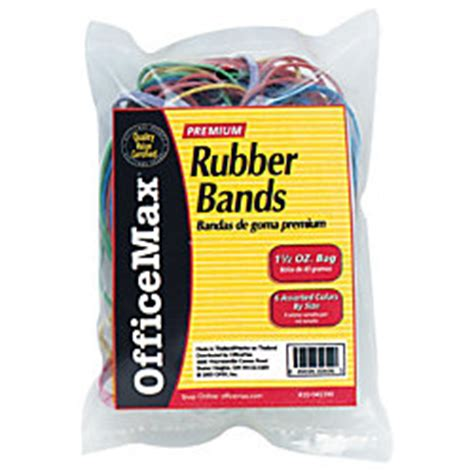 office depot rubber st officemax assorted color rubber bands by office depot