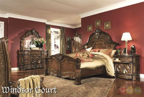 fruitwood bedroom furniture michael amini court vintage fruitwood finish
