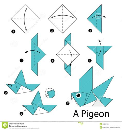 how to create origami step by step how to make origami a bird
