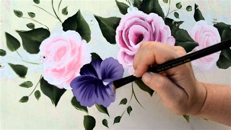make flower painting paint a purple pansy