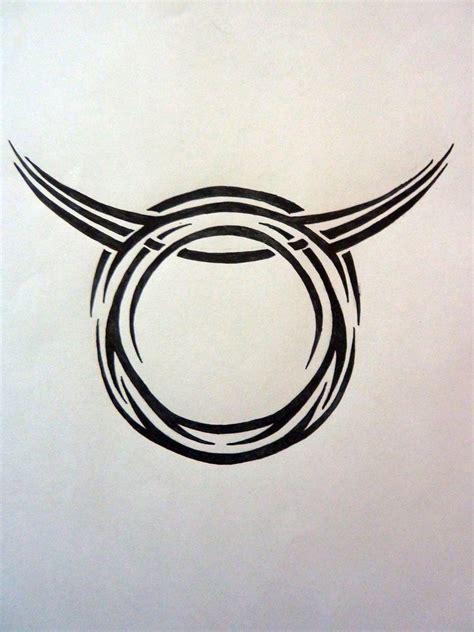 tribal zodiac taurus by magpievon on deviantart