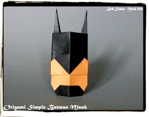 how to make origami mask 17 best images about batman origami on