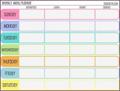 weekly workout schedule template cvsampleform com