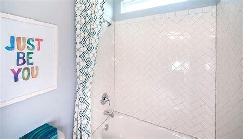 Bathroom Shower Stall Tile Designs kids bathroom with herringbone shower tiles contemporary