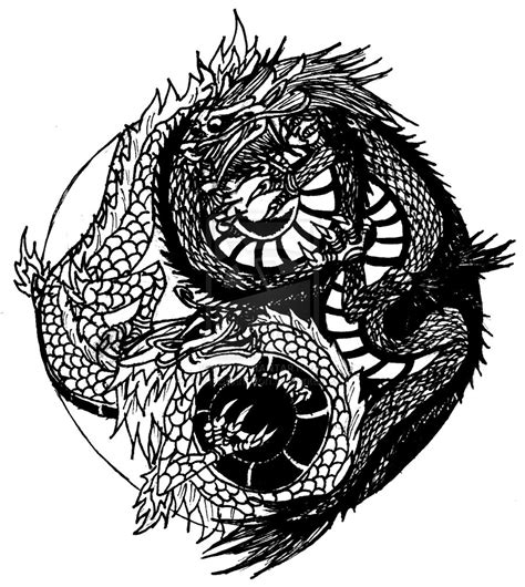 yin yang dragons by chrisbretherton on deviantart