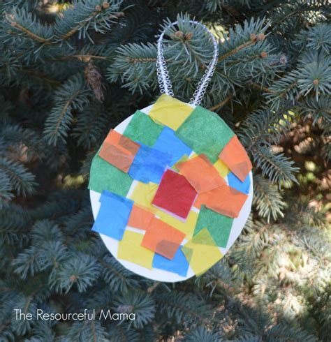 paper plate ornaments tissue paper kid made ornament the resourceful