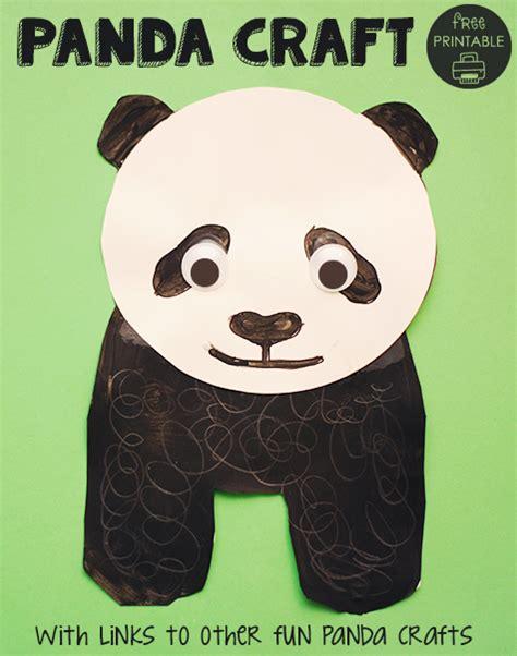 panda crafts for panda printable craft