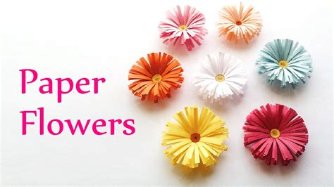 flower paper crafts diy crafts paper flowers daisies innova crafts doovi