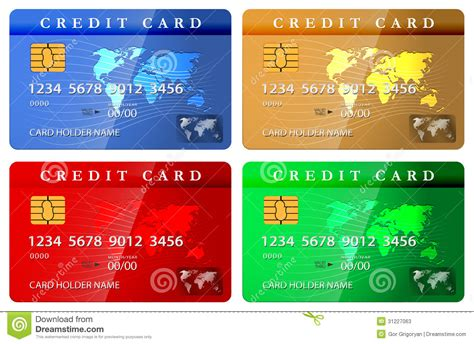 how to make debit cards 4 color credit or debit card design template stock photos