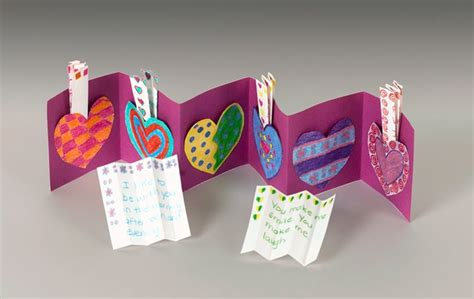 paper hearts craft paper message pockets craft crayola