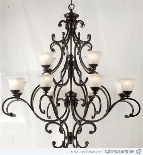 and iron chandeliers 20 wrought iron chandeliers home design lover