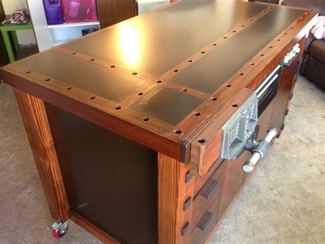 woodworking assembly table eric s stylish workbench assembly table the wood whisperer