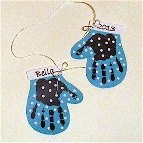 mitten craft for make a handprint mitten decoration craft classroom ideas