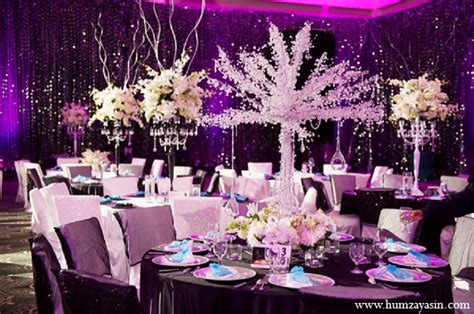 purple and white decorations temple indian wedding by humza yasin photography