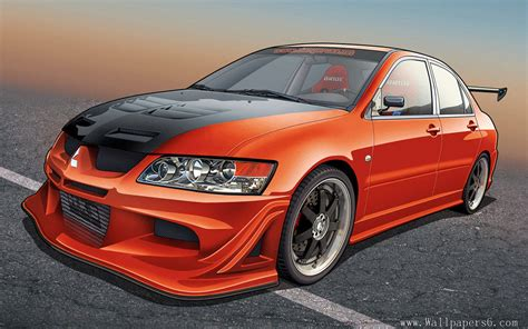 Car Evolution Wallpaper by The Mitsubishi Lancer Evolution Car Auto Wallpapers