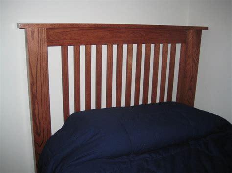 mission style headboard mission style oak bed headboard by uwmu lumberjocks