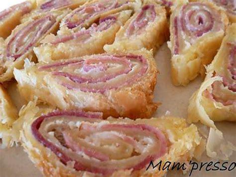 recette de feuillet 233 roul 233 au jambon fum 233 et fromage frais