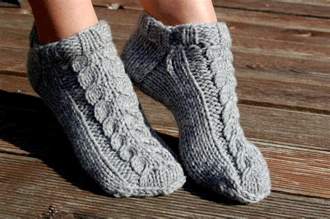 Knitted Wool Slipper Socks Knit Wool Socks Knit