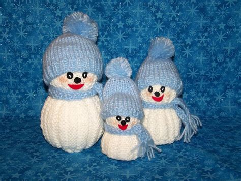 free knitting patterns snowman you to see knitted snowman family on craftsy