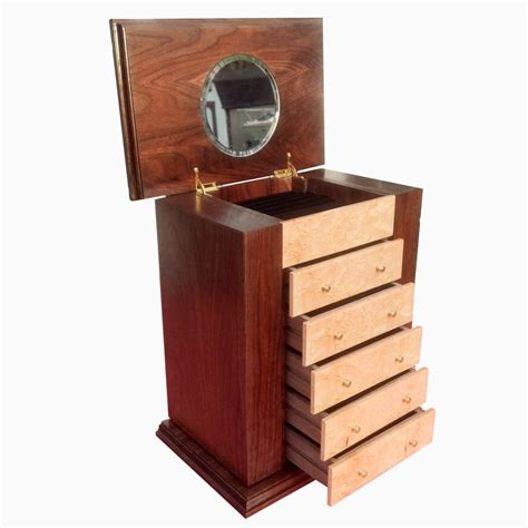 make wooden jewelry box made 5 drawer wooden jewelry box with birds eye maple