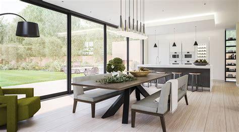 modern kitchen and dining room design kitchen and dining room in a modern extension lli design