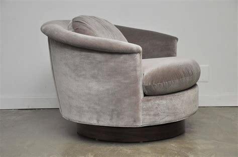 large swivel chairs large milo baughman swivel chair at 1stdibs