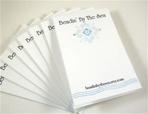 Beadin By The Sea How To Make Your Own Earring Cards