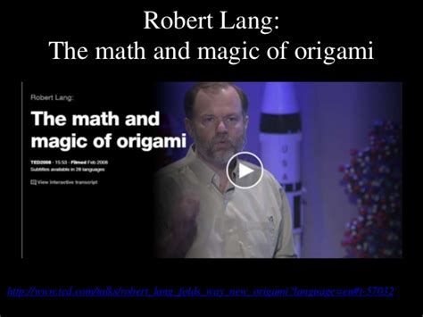 the math and magic of origami of origami