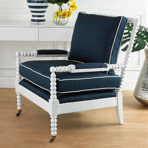 Wooden Accent Chairs by Wooden Spool Accent Chair Feel N The Blues
