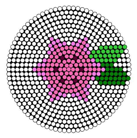 perler bead flower patterns gracidea shaymin flower perler bead pattern bead sprites