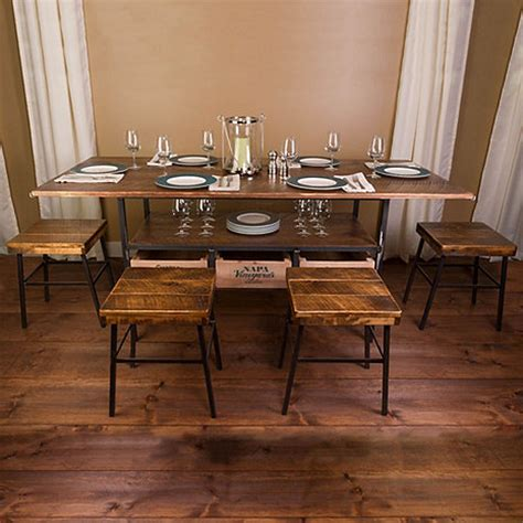 wine dining table vino vintage farm style dining table with 4 cellar stools