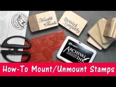 how to mount rubber sts on wood unmounting wood mount rubber sts doovi