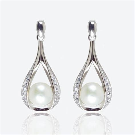 earrings with the suzette sterling silver cultured freshwater pearl earrings
