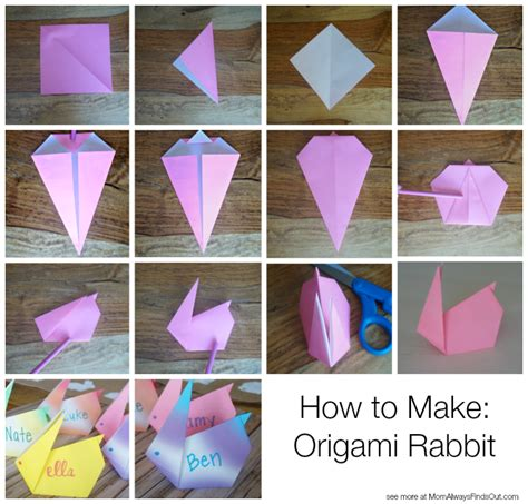 how to make a bunny origami easter dinner ideas honeybaked ham and easter placecards