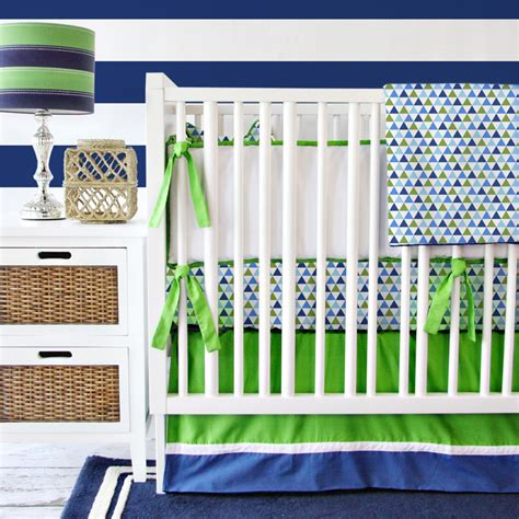 boy nursery bedding set preppy navy boy crib bedding set by caden