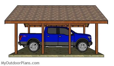 carport building plans how to build a carport gable roof myoutdoorplans free