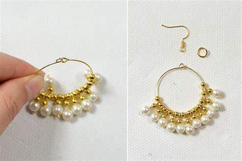 how to make beaded earrings beader garden gold beaded earrings