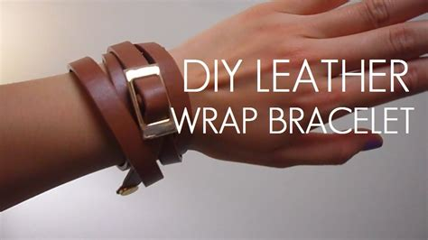 where can i get to make bracelets diy belt to leather wrap bracelet