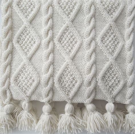knitting news aran cable scarf and throw knitting pattern