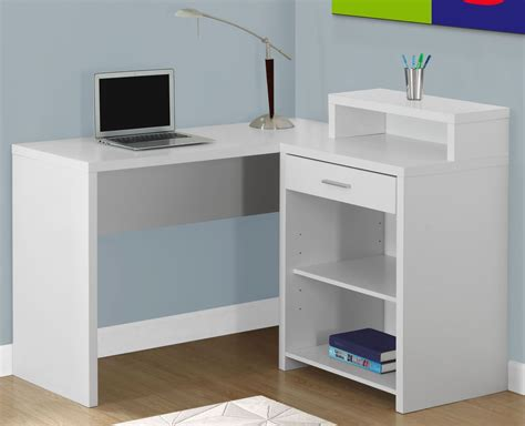 corner storage desk white corner storage computer desk 7124 monarch