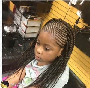 single plaits hairstyles kids cornrows with single plait at the back braids