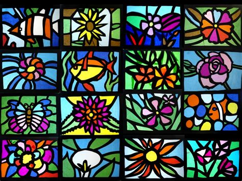 paper stained glass craft stained glass of tissue paper