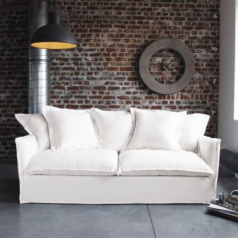 canap 233 blanc en tissu maisons du monde photo 1 8 nom est une v 233 ritable invitation au