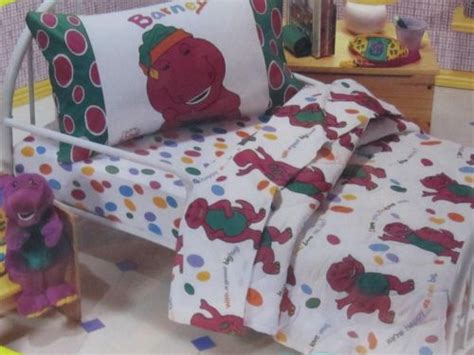 barney toddler bedding set new vintage 1992 barney 4 comforter quilt set