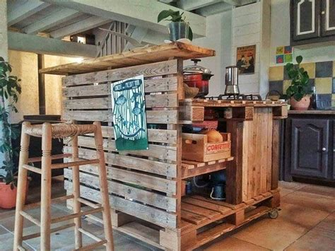 kitchen palette ideas recycled pallet kitchen island table ideas pallet wood