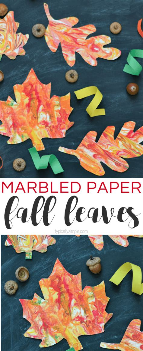 marbled paper craft marbled paper fall leaves craft typically simple